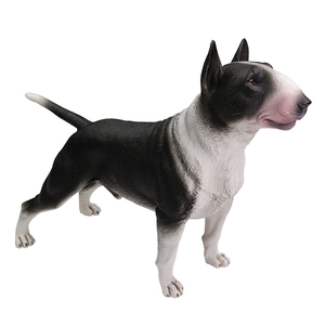 Image 1 - DDWE Bull Terrier Bulldog Pet dog Greyhound Simulation Animal Model Decoration Bully pitbull Action Toy Figure for Children Gift