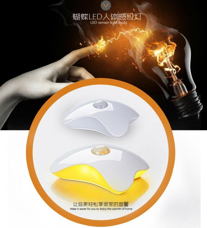 Цветок Форма Ночная четырехлистного клевера Лампы для мотоциклов USB движения заряда Сенсор интеллектуальные Светодиодные лампы Рождество ...