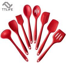 TTLIFE 2016 Neueste Silikon Kochen Werkzeuge Silikon Küchenutensilien Set (8 Stück) FDA Genehmigt Silikon Utensil Set