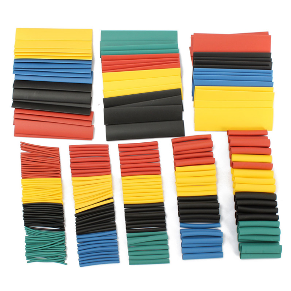 Hot sale 328Pcs 8 Sizes Multi Color Polyolefin 2:1 Halogen-Free Heat Shrink Tubing Tube Assortment Sleeving Wrap Tubes