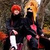 Womens Mens Naruto Akatsuki Uchiha Itachi Robe Cloak Cosplay Costume Halloween Cloth