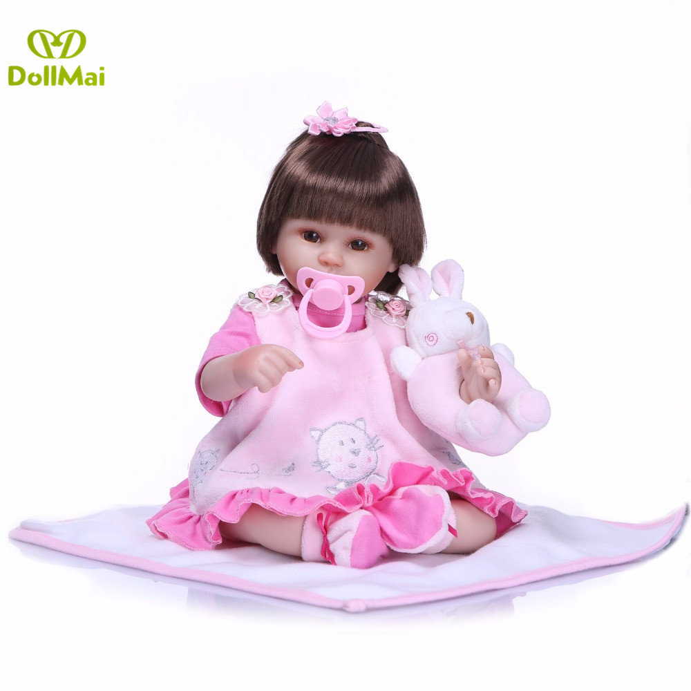 Bebes reborn realista girl dolls 1840cm hair rooted silicione reborn baby doll for child gift play house toy dolls rebornBebes reborn realista girl dolls 1840cm hair rooted silicione reborn baby doll for child gift play house toy dolls reborn