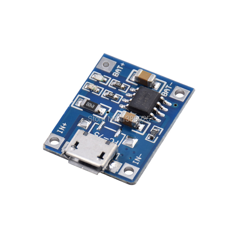 100pcs/lot TP4056 1A Lipo Battery Charging Board Charger Module Lithium Battery DIY MICRO Port Mike USB New Arrival
