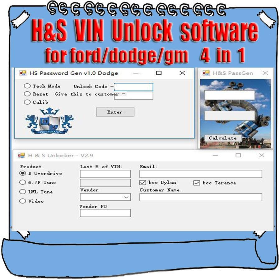H S Tuner Unlocker Keygen G M BM MM XRT PassGen Calculator for Ford Orig HS