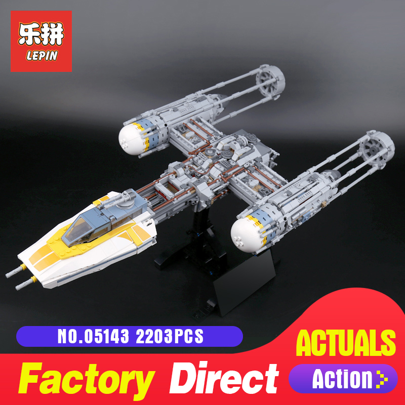 Lepin 2203Pcs 05143 Star Series The 75181 New Y-wing Starfighter Set Model Building Blocks Bricks DIY Toys Kids As Gifts Wars 482pcs star space the ja quadjumper set model building blocks bricks toys kids gifts compatible legoings star series wars 75178