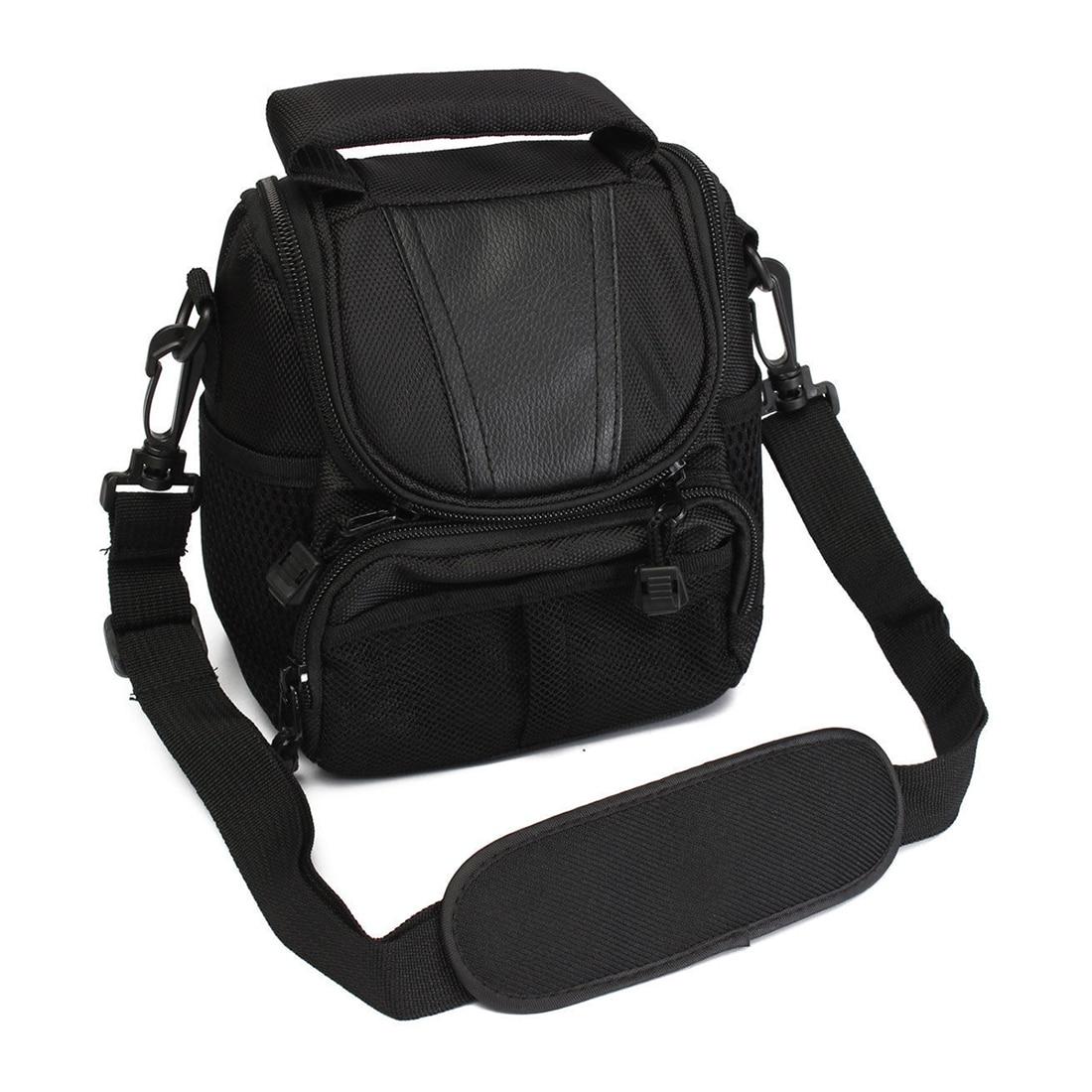Small Nylon Waterproof Camera Shoulder Bag Case Handbag For Nikon Canon SLR DSLR