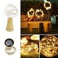 5 шт. в упаковке  солнечные светильники в форме винных бутылок  10 светодиодных водонепроницаемых теплых белых медных пробковых ламп для свад...