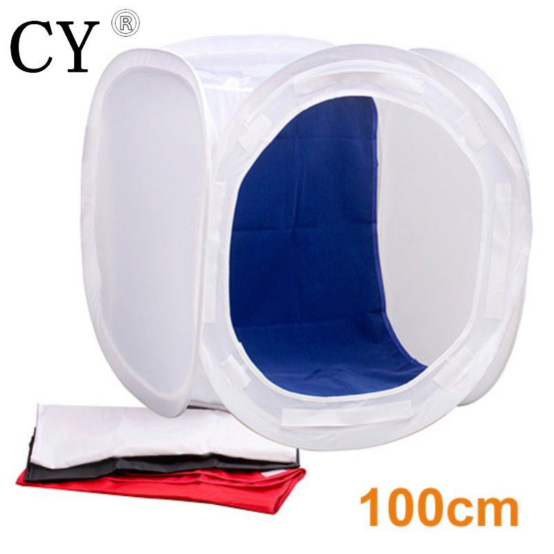 Inno New Photo Video Studio low price Photo Softbox shooting Light Tent  Soft Box 39.37 100cm with4 Backdrops hot PSCT1-100 32x32 inch 80cm x80 cm photo studio shooting tent light cube diffusion soft box kit with 4 colors backdrops for photography