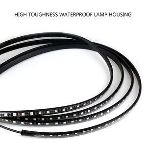 Image 3 - 12V LED Car Chassis Flexible Strip Lights Auto RGB Underglow Decorative Atmosphere Lamp Cars Underbody System Light Accessories