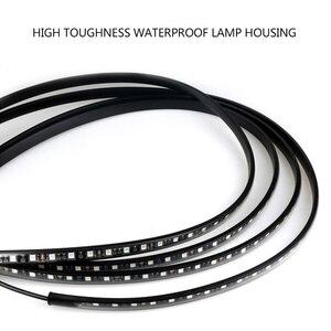 Image 3 - 12V LED podwozie samochodu elastyczny pasek światła Auto RGB Underglow dekoracyjne lampy atmosfera samochody Underbody System akcesoria oświetleniowe
