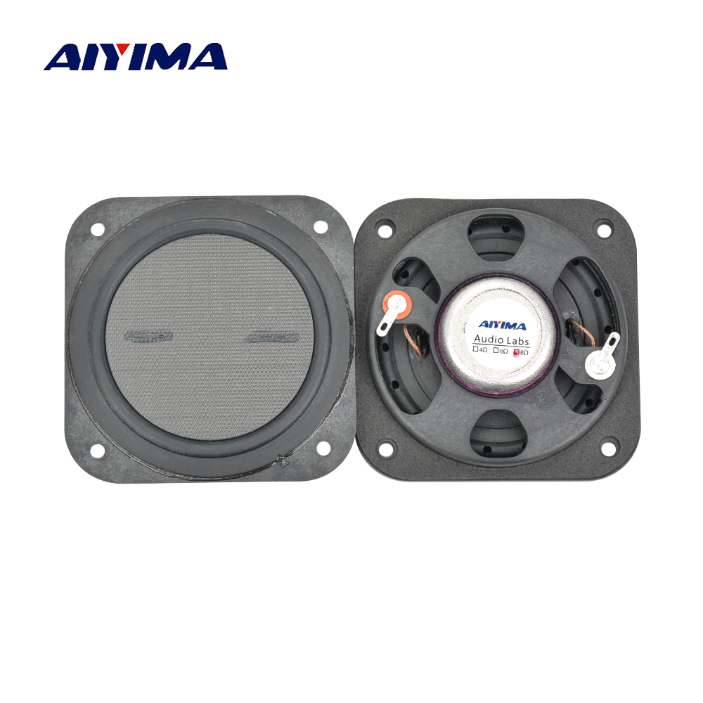 2pcs 3inch  8 ohms 15W Flat Speaker Neodymium Full Range Speaker for Home Theater Speakers LCD TV Advertising Machine grille