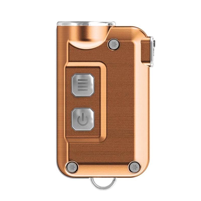 Portable Mini Flashlight 380Lumen LED Torch Micro USB Rechargeable Flashlight EDC Keychain Lamp Torch Emergency Light