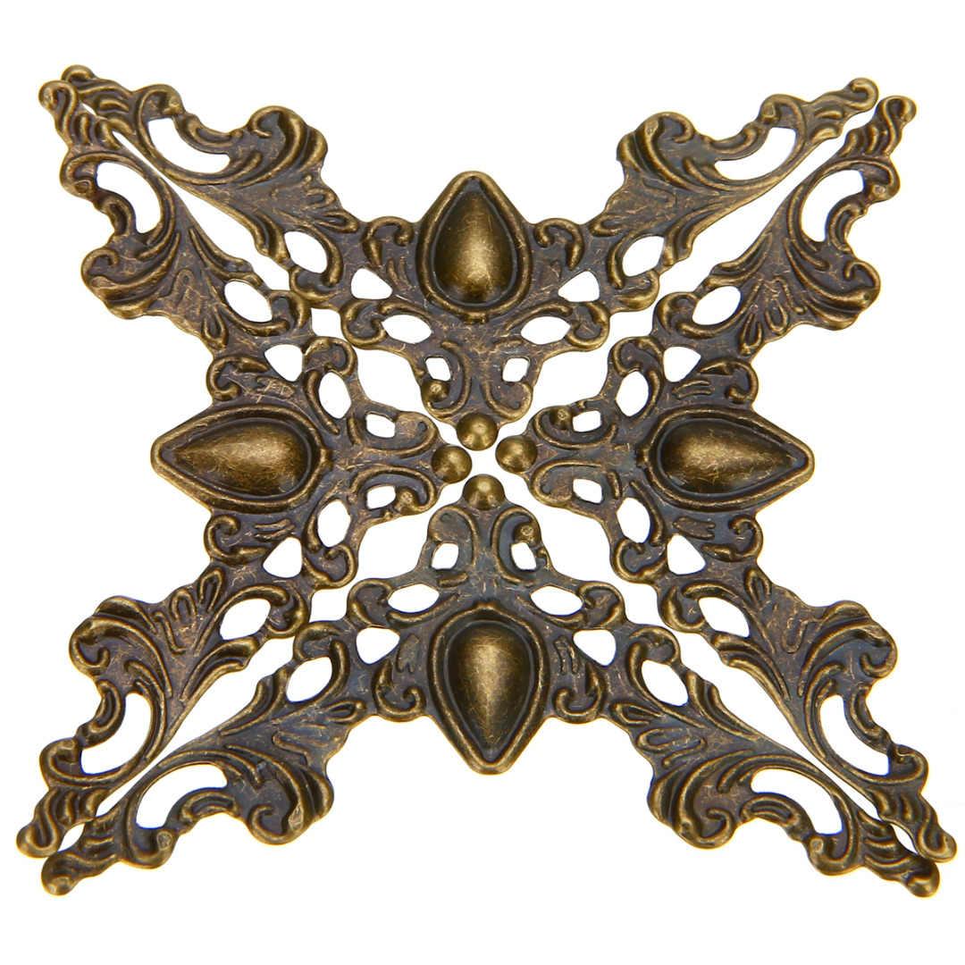 12 pçs scrapbook livro canto jóias presente caixa álbum decorativo protetor capa 41x41x0.5mm prata/bronze/ouro