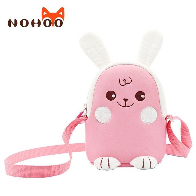 NOHOO Little Girls Small Crossbody Purse Kids Cute Messenger Bag 3D Cartoon  Rabbit Toddler Shoulder Bag