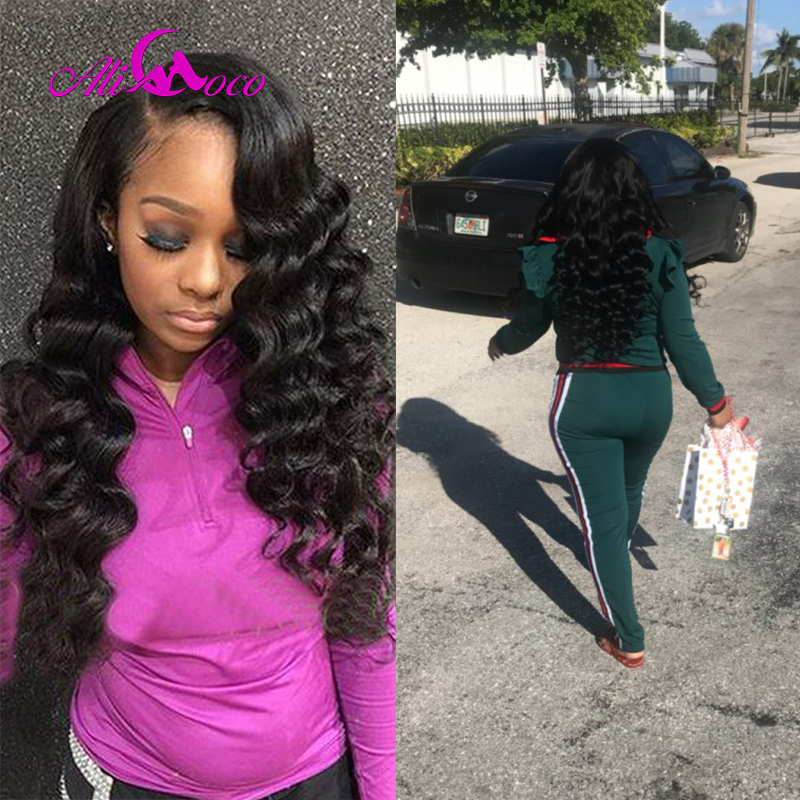 Ali Coco Malaysian Loose Wave Hair Bundles Natural Color 3Pcs/lot 100% Human Hair Weave Extensions Non-Remy Hair Can Be Dyed