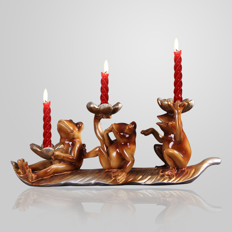 Resin Frog Statue Candle Holder Art and Craft Accessories Furnishing for Home Decoration, Present and Festival OrnamentationResin Frog Statue Candle Holder Art and Craft Accessories Furnishing for Home Decoration, Present and Festival Ornamentation