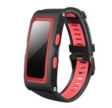Весь день сердечный ритм GPS Tracker профессиональный спорт умный Браслет 0.96 дюймов Большой OLED Экран IP67 Браслет фитнес-трекер