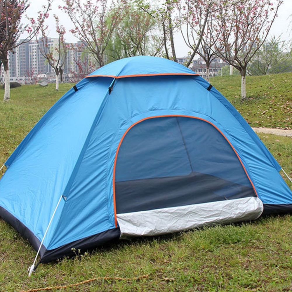 New 3-4 Persons Hand Throwing Quick Automatically Open Tents Waterproof Camping Tent Single Layer Portable Anti-UV Fishing Tent outdoor double layer 10 14 persons camping holiday arbor tent sun canopy canopy tent