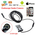 Free shipping!WIFI IOS and Android Endoscope Borescope HD Inspection 1M / 3.5M / 5M Snake Camera 9MM