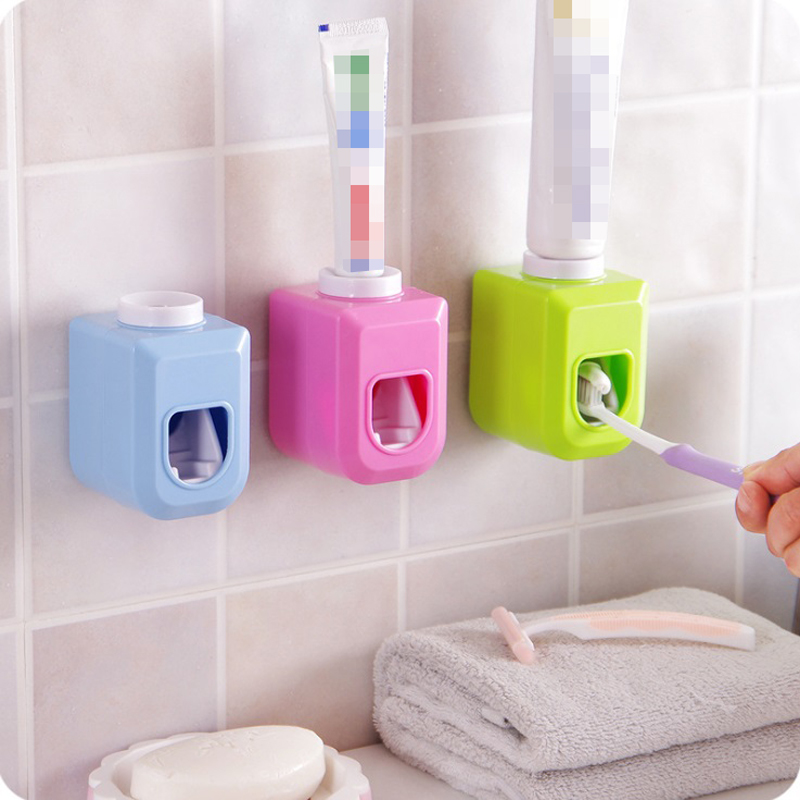 Basupply 1Pc New Hands Free Automatic Toothpaste Dispenser Toothpaste Squeezer Out Wall Mount Bathroom Accessories