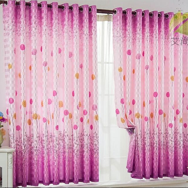 Korean style ready made short door window curtain for kitchen ...