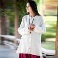 De Dove2016 nuevo diseño de algodón y lino sólido suelto abrigo trench solo pecho Medio estilo del envío libre