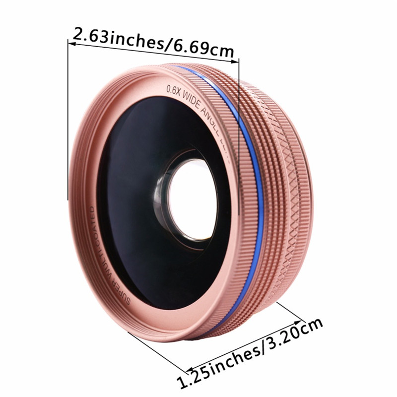 Cell Phone Lenses 0.45X/0.6X Super Wide Angle 12.5x Macro Lens For iPhone 6 Plus 7 5S xiaomi 5 Samsung S7 Edge Camera lens Kit 3