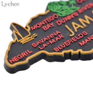 Image 4 - ライチ生活 1pcジャマイカ地図冷蔵庫マグネット漫画の冷蔵庫のステッカーdiy手作りの家の装飾