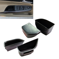 New 4Pcs Black Front Rear Door Armrest Secondary Storage Box Container Holder Tray For Honda Accord