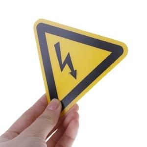 Image 3 - Etiquetas adhesivas de advertencia, aviso de peligro de choque eléctrico, seguridad, 25mm, 50mm, 100cm, PVC, resistente al agua