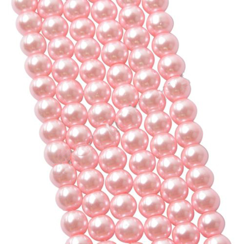 LNRRABC 10MM Glass Round Pink Beads For Making Accessories