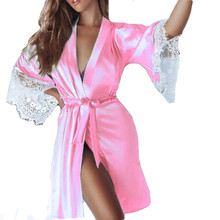 Sexy Silk Lace Robe 5 Colors