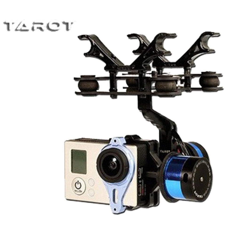 Tarot T-2D 2 Axis Camera Brushless Gimbal TL68A08 For Gopro Hero 3 FPV fpv 3 axis cnc metal brushless gimbal with controller for dji phantom camera drone for gopro 3 4 action sport camera only 180g
