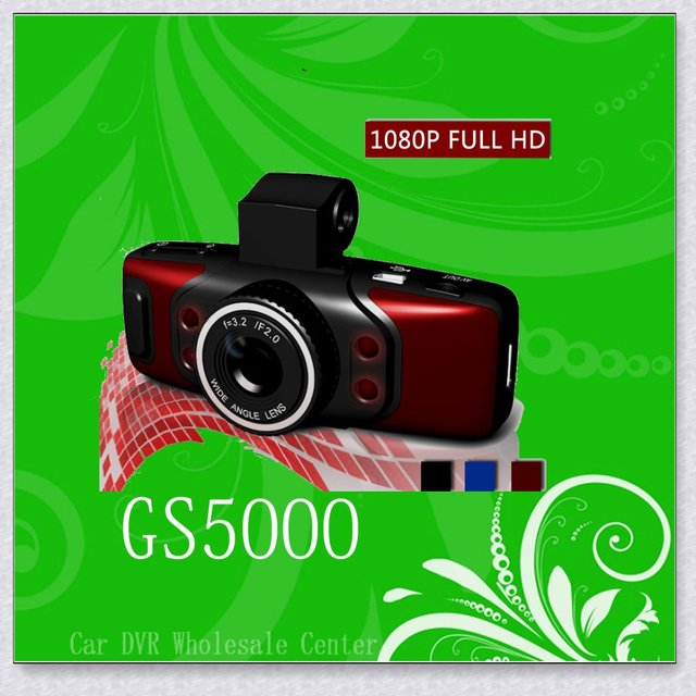 """CAR DVR GS5000 1.5""""TFT LCD 140degree Ultra Wide Angle Lens 1920*1080 5.0M HD CMOS With Night Vision,Free Shipping"""