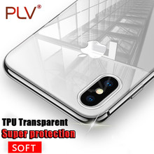 PLV Phone Case For Apple iPhone 7 7 Plus Case Ultra Thin Soft transparent TPU Cover For iPhone 6 6S Plus Phone Bag 8 8 Plus X