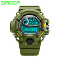 Sanda Brand Men's Watches LED Digital Watch Men Fashion Military Sport Watch Electronics Wristwatches Hot Clock relogio saat