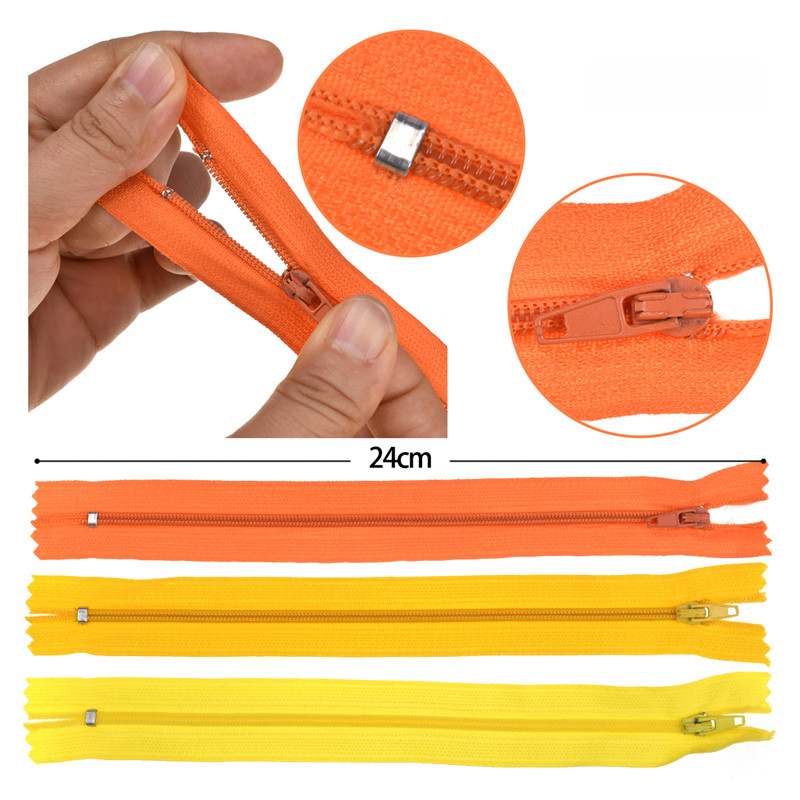 5pcs lot 3 20cm Long Multicolors Invisible Zippers DIY Nylon Coil Zipper For Sewing Clothes Pillow Tailor Tool Sewing Accessory in Zipper Sliders from Home Garden