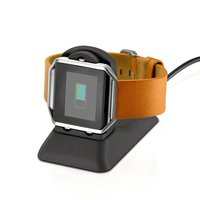 for Fitbit Blaze Charging Stand Accessories,Cradle Holder Charging Clip Plastic Bracket Cable for Fitbit Blaze Smart Watch Black