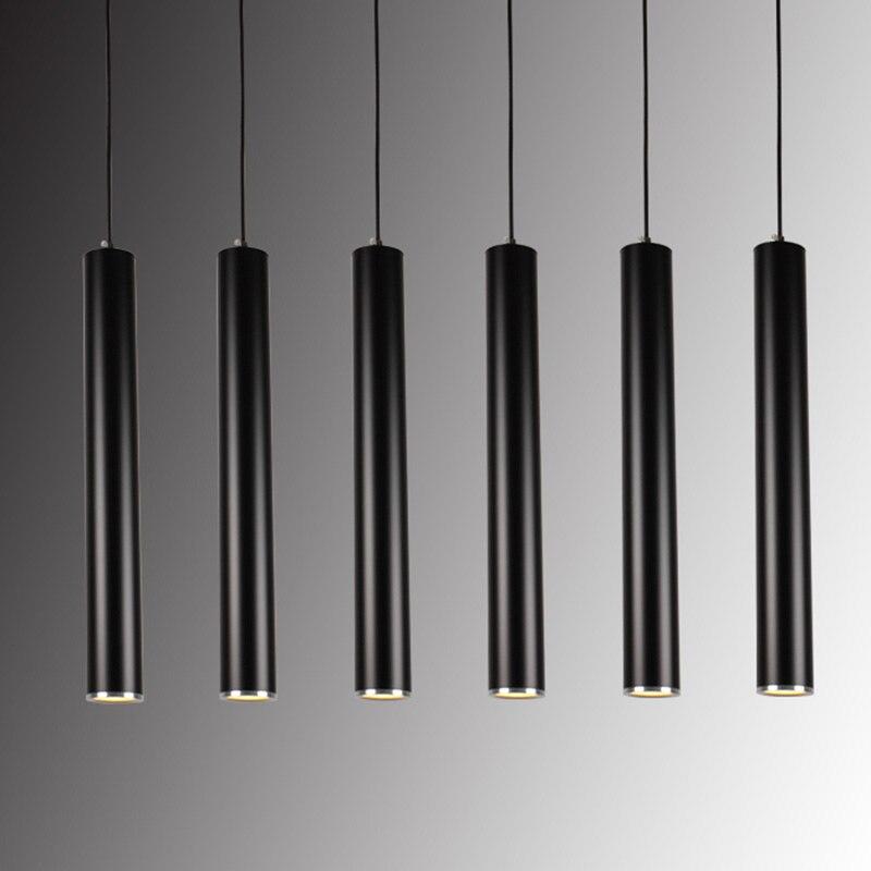 ФОТО Modern led Cylindrical pendant light home/Industrial lighting hang lamp dining/living room bar cafe droplight fixture