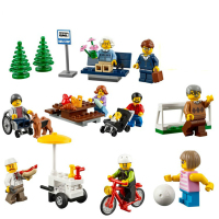 Compatible Lego 60134 258pcs City Town Fun In The Park People Pack Construction Set Building Block