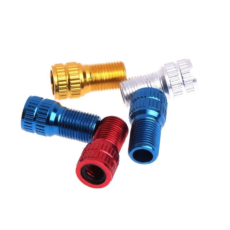 Many Colors New 2 pcs Presta Tire Valve Adapters Converts Presta To Schrader