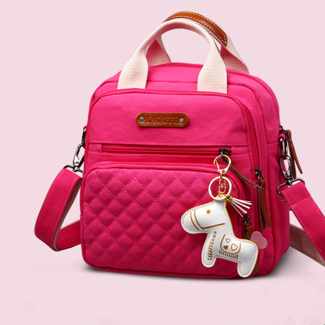 Portable Pink Blue 9 Colors Handbags For Moms,Multifunction Backpack Diaper Bag,Large Capacity Cartoon Baby Nappy Organizer Bags