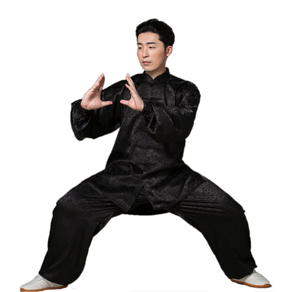 New Style Chinese Traditional South Korea Tai Chi Suit Dragon Pattern Martial Arts Uniforms Kung Fu Jacket+Pants лонгслив printio once upon a time in america однажды в америке