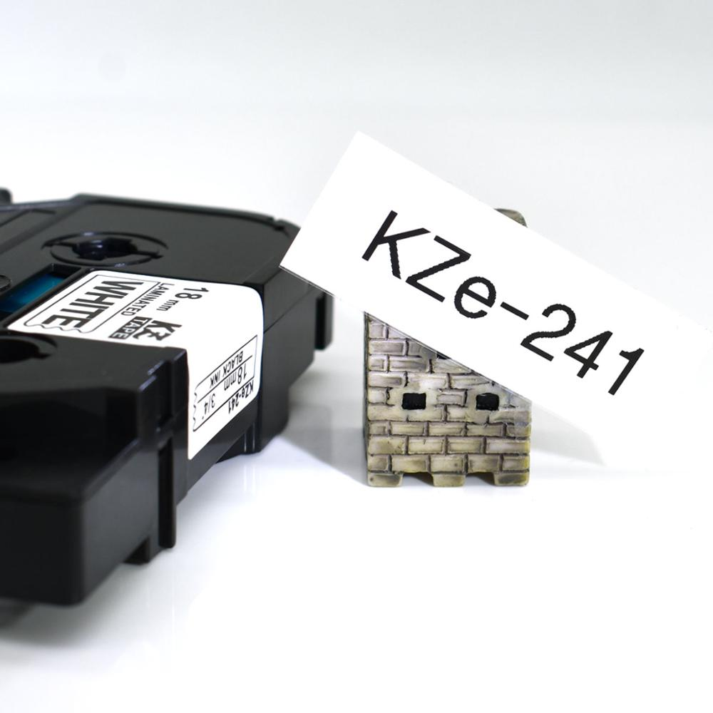 CIDY Multicolor Compatible laminated tze 241 tze241 18mm Black on white Tape tze 241 tz 241 for brother p touch printer tze 141 in Printer Ribbons from Computer Office