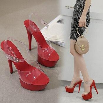 Muestra Tacones 15cm Talla Verano Sexy Zapatos T Noche 6 Mujer Plataforma Grande 2019 Altos 41 Escenario Colores Blanco Sandalias 34 Negro De Rojo jc4Rq35AL