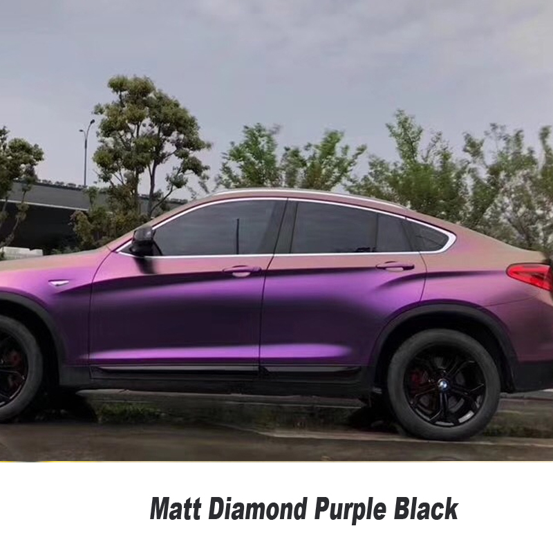 Premium Gold & Purple Chameleon Shift Vinyl With Air Bubble Free Car Vehicle wrap matt diamond Purple black vinyl 2m 18mx152cm glossy matte chameleon pearl glitter vinyl sticker purple blue chameleon automobiles car wrap diamond vinyl film