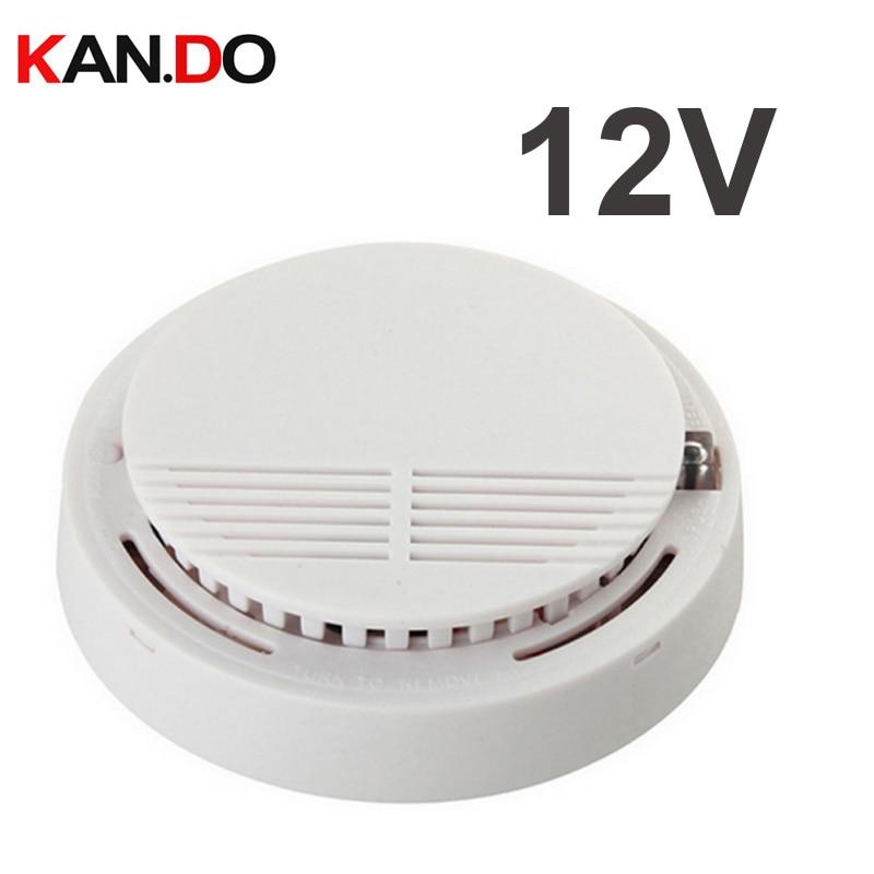 BY 12v Smoke Detector Alarm 100db Siren Smoke Alarm Smoke Sensor Alarm Fire Alarm Fire Detector FOR Security System