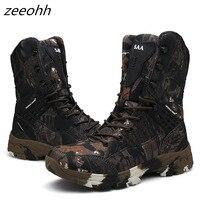 Nova camo militar botas homens força especial tático botas deserto ao ar livre antiderrapante sapatos de combate homem caminhadas caça bota|Calçados para caminhada| |  -