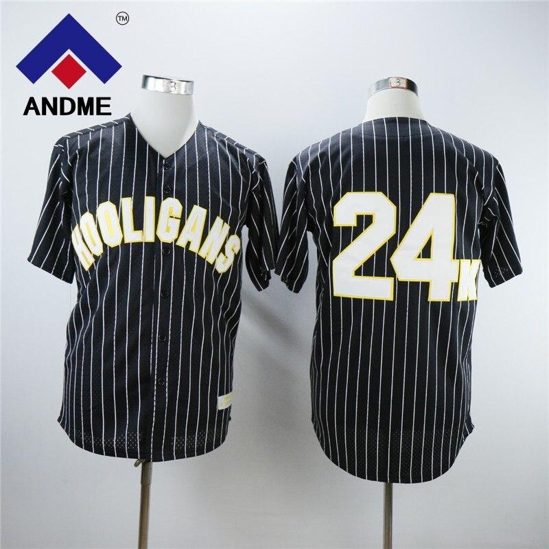 Bruno Mars #24K Hooligans mens Baseball Jersey Stiched BET Stitched Sewn White Black