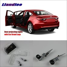 Liandlee Car Door Ghost Shadow Lights For Mazda 6 2004~2013 Courtesy Doors Lamp / Brand Logo LED Projector Welcome Light liandlee plug and play car courtesy doors lights for volvo s80 2013 2014 brand logo projector welcome light ghost shadow lamp